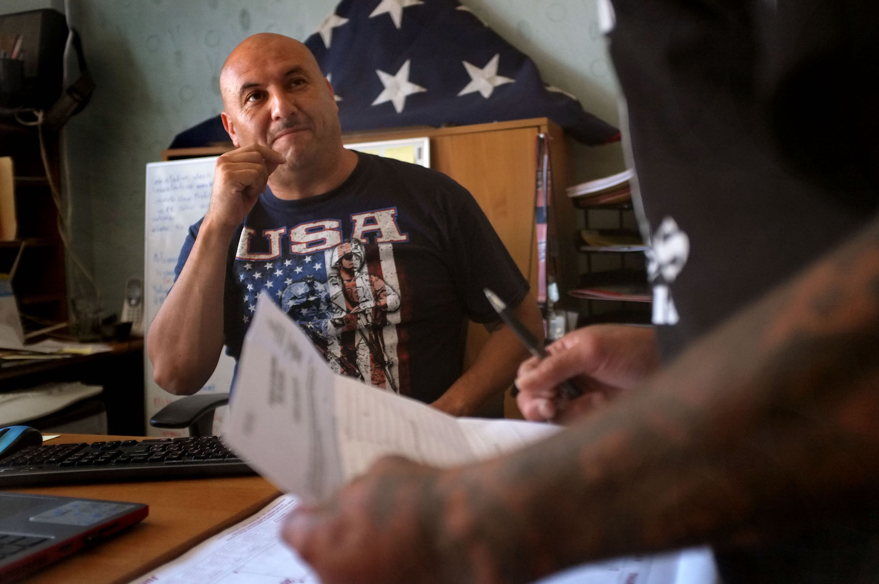 Hector Barajas, founder and director of the Deported Veteran's Support House in Tijuana. Photo by David Maung for CALmatters
