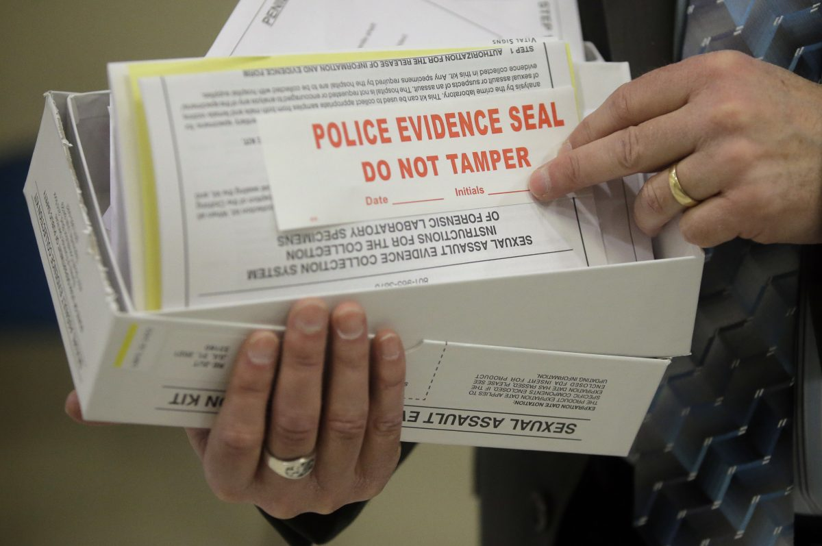 A sexual assault kit consists of swabs of DNA residue and other forensic material taken from a victim. Photo by Rick Bowmer, ASSOCIATED PRESS)