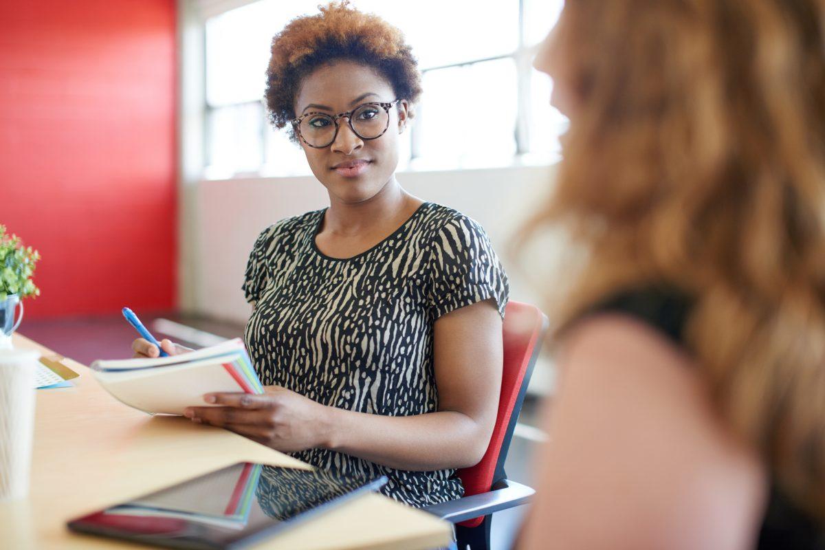 woman applying for job