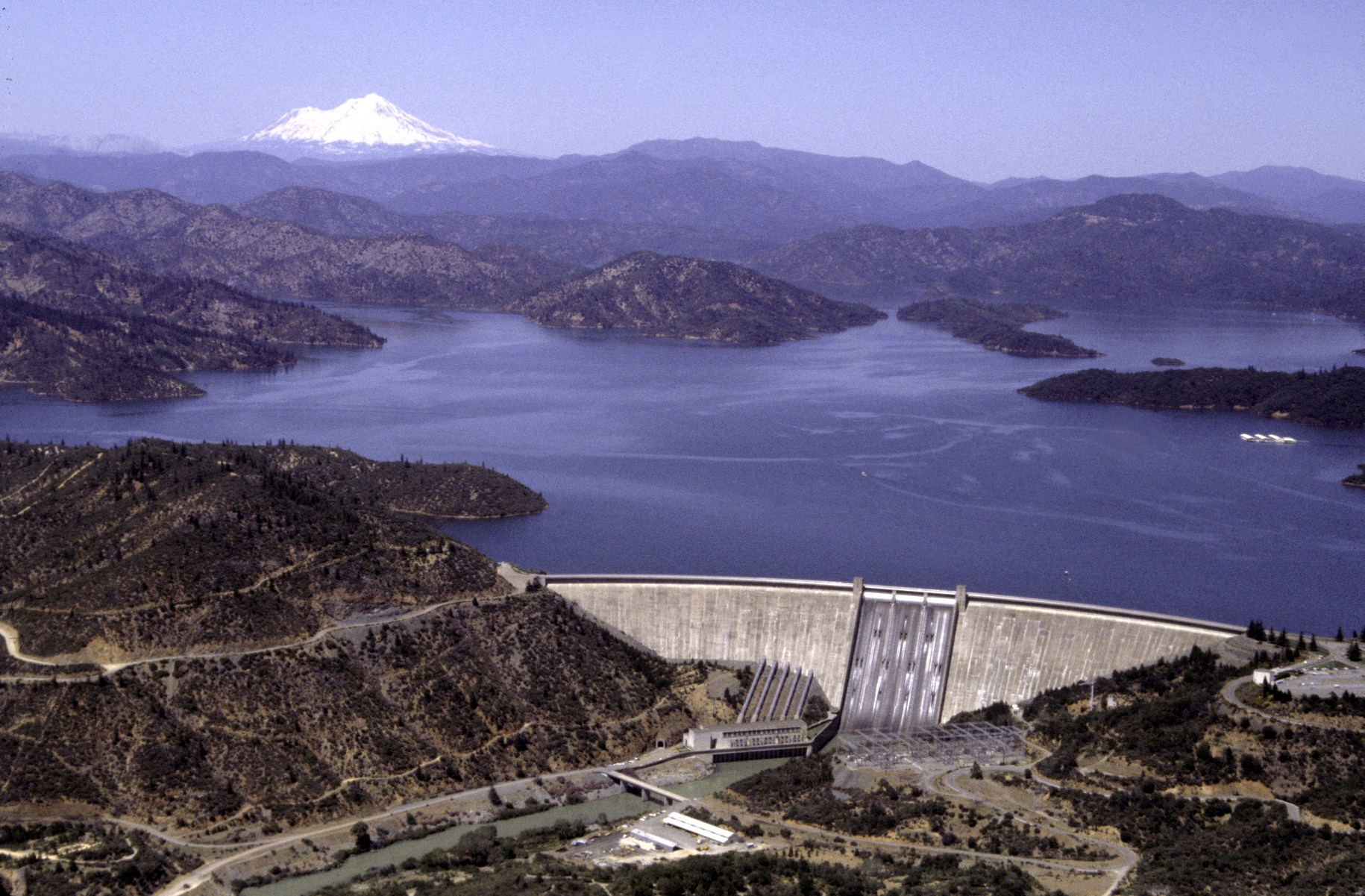 Shasta Dam is one of California's largest generators of hydroelectric power. Photo via Bureau of Reclamation