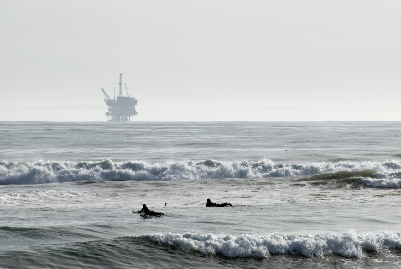 Oil rig off the California coast