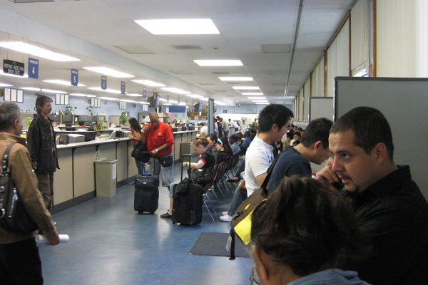 A picture of a California DMV office is shown. | Photo: Flickr/Michael Ocampo