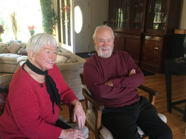 Carol and George Law received fliers twice offering to buy their one-acre vacant lot in San Diego County for $800 in cash. Photo by Amira Sharma, KPBS