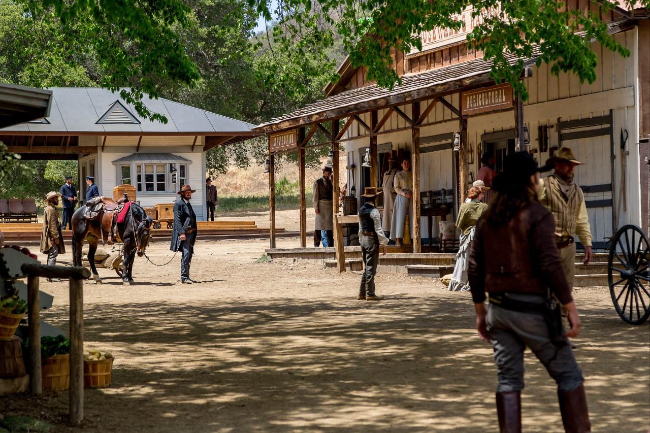 Photo of Paramount Ranch and cowboys.