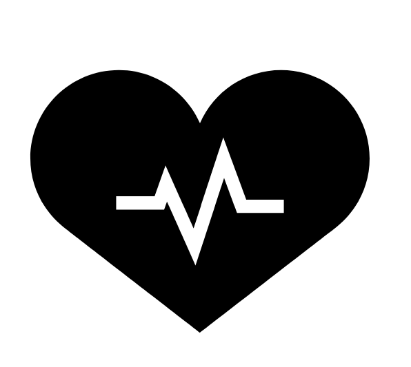illustration of a heart and pulse line