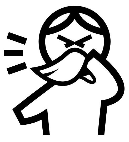 an illustration of a person sneezing