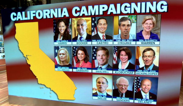 With California hosting the greatest gathering of 2020 Democratic presidential contenders to date, national networks such as CBS are covering the state party convention in San Francisco.