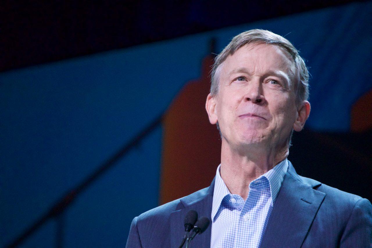 Former Colorado Gov. John Hickenlooper made national news by irritating progressive California delegates. Photo by Ben Christopher for CALmatters
