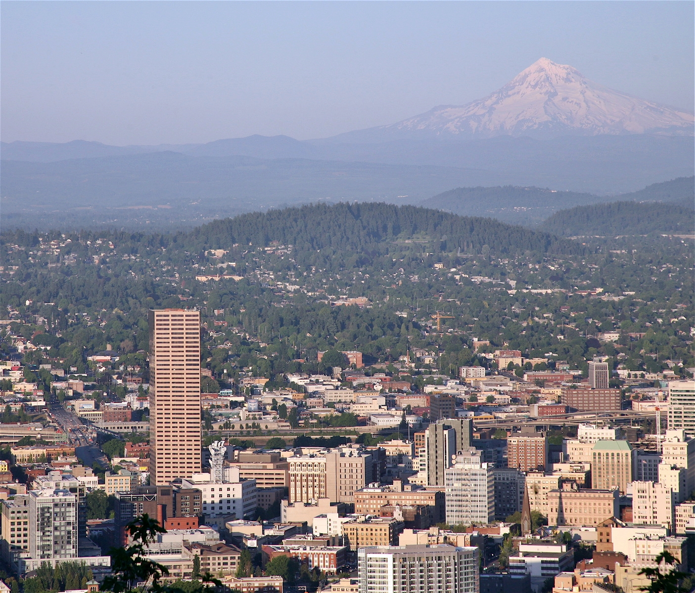 An aerAn aerial image of Portland, Oregon, which just passed significant rent control protections. Photo by Chronus via Wikimedia Commons.