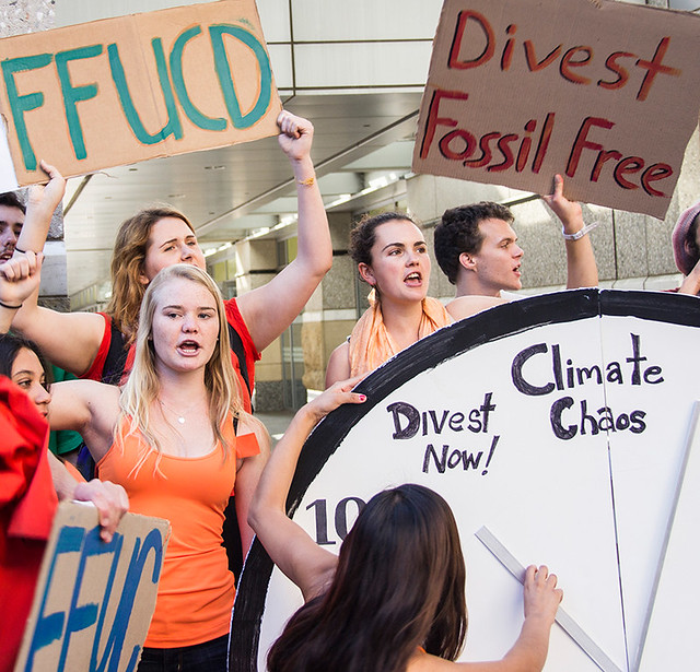climate change university of california fossil fuel divestment