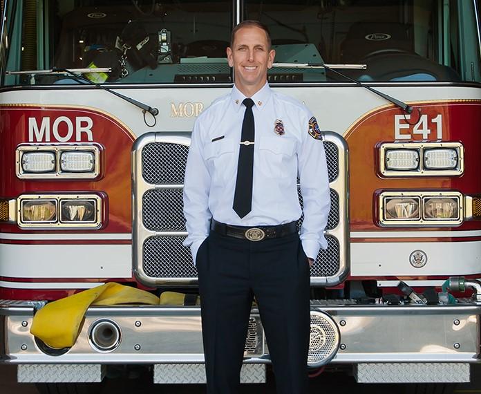 Fire chief Dave Winnacker. Photo courtesy of Moraga-Orinda fire district