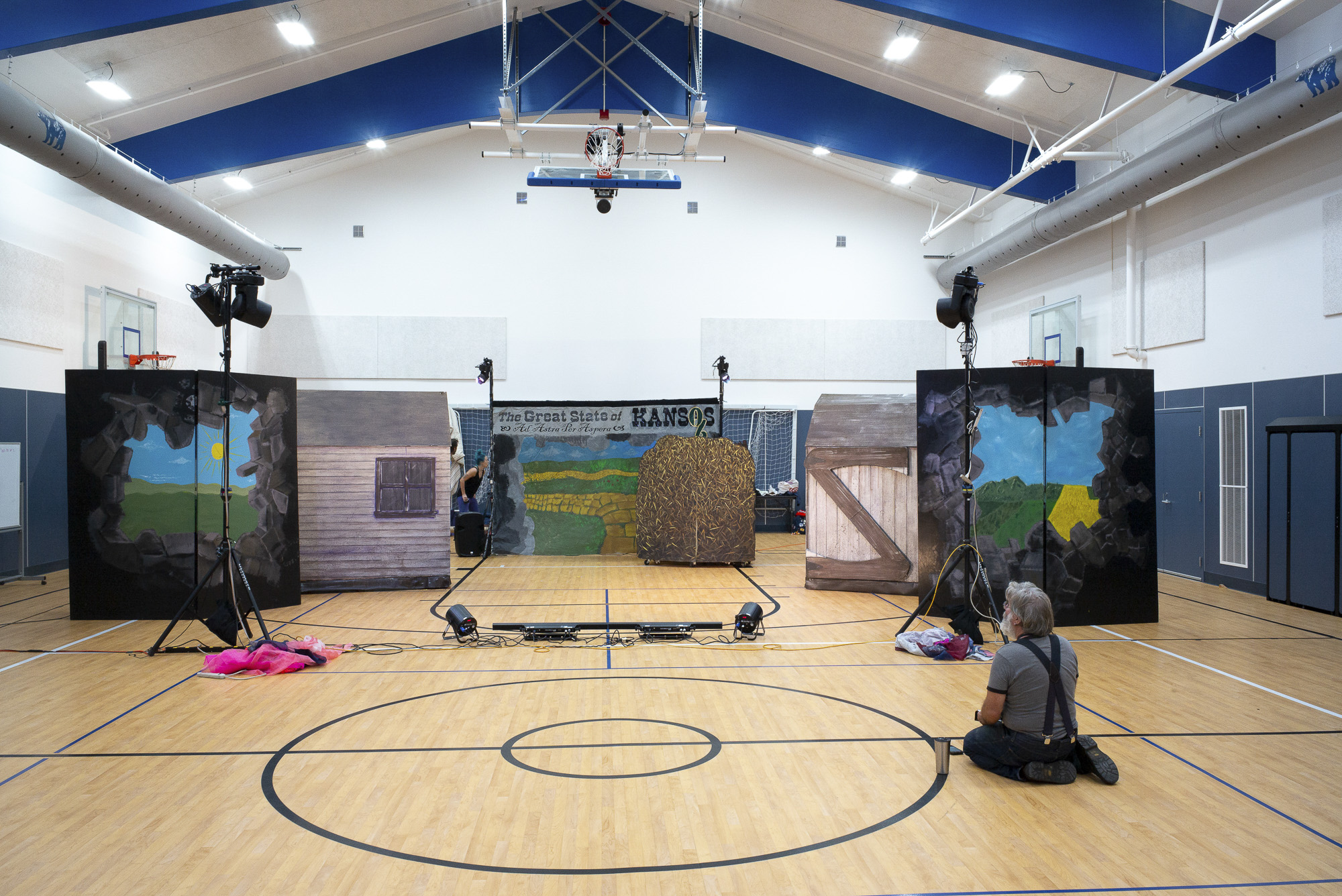 A new gymnasium at Burnt Ranch Elementary School in Trinity County, where it took three years to address a massive mold problem. A backlog of school facilities repairs across California prompted Proposition 13 on the March 2020 ballot. Photo by Dave Woody for CalMatters
