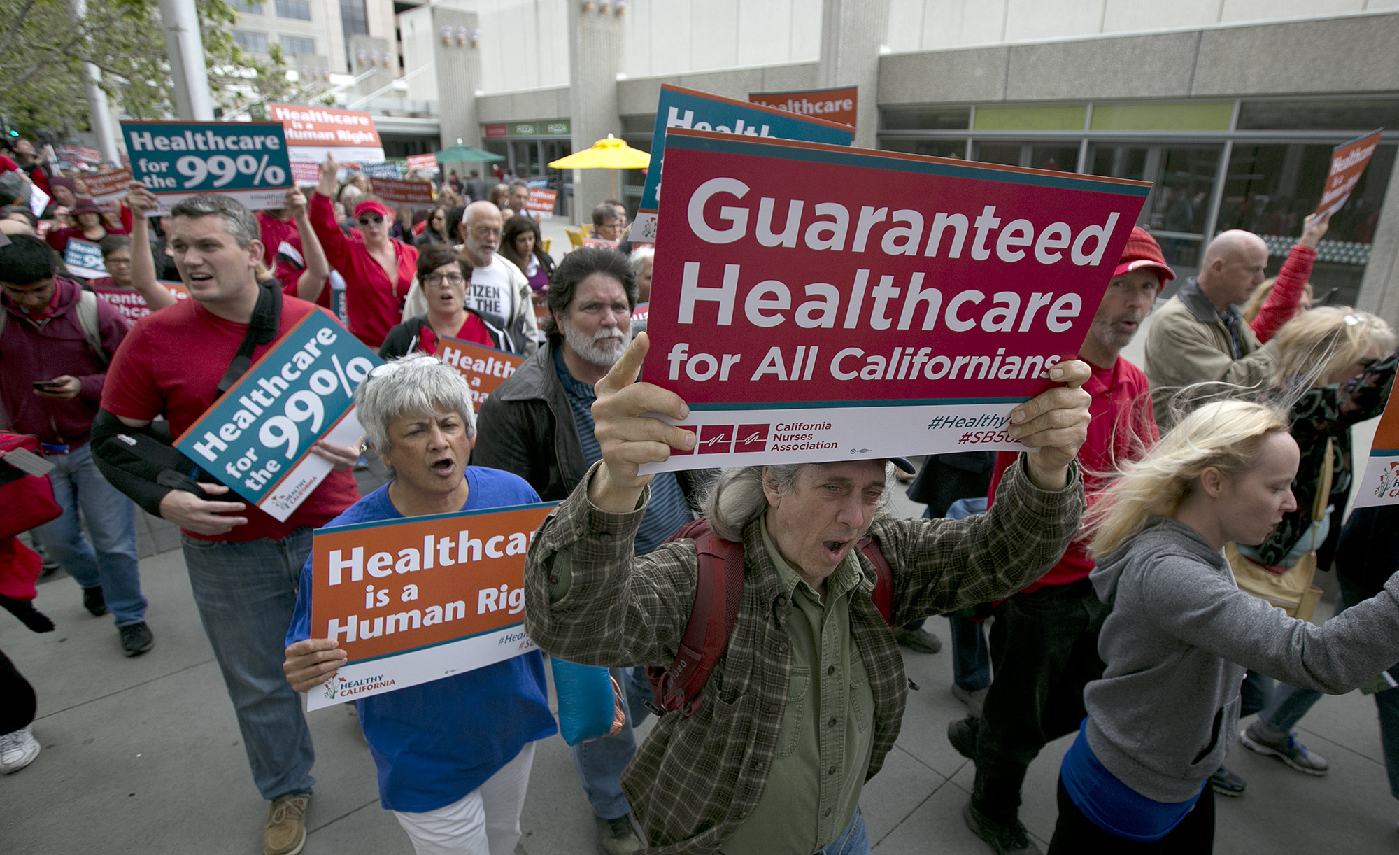 A health care rally at California's Capitol. AP Photo by Rich Pedroncelli