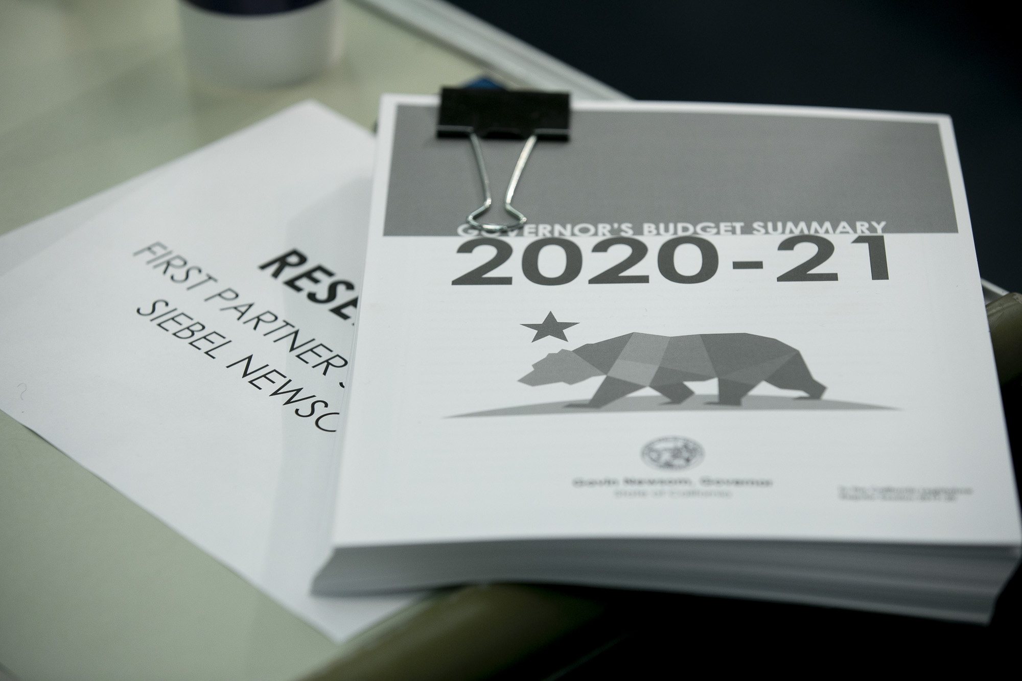 A copy of the 2020-21 budget summary.