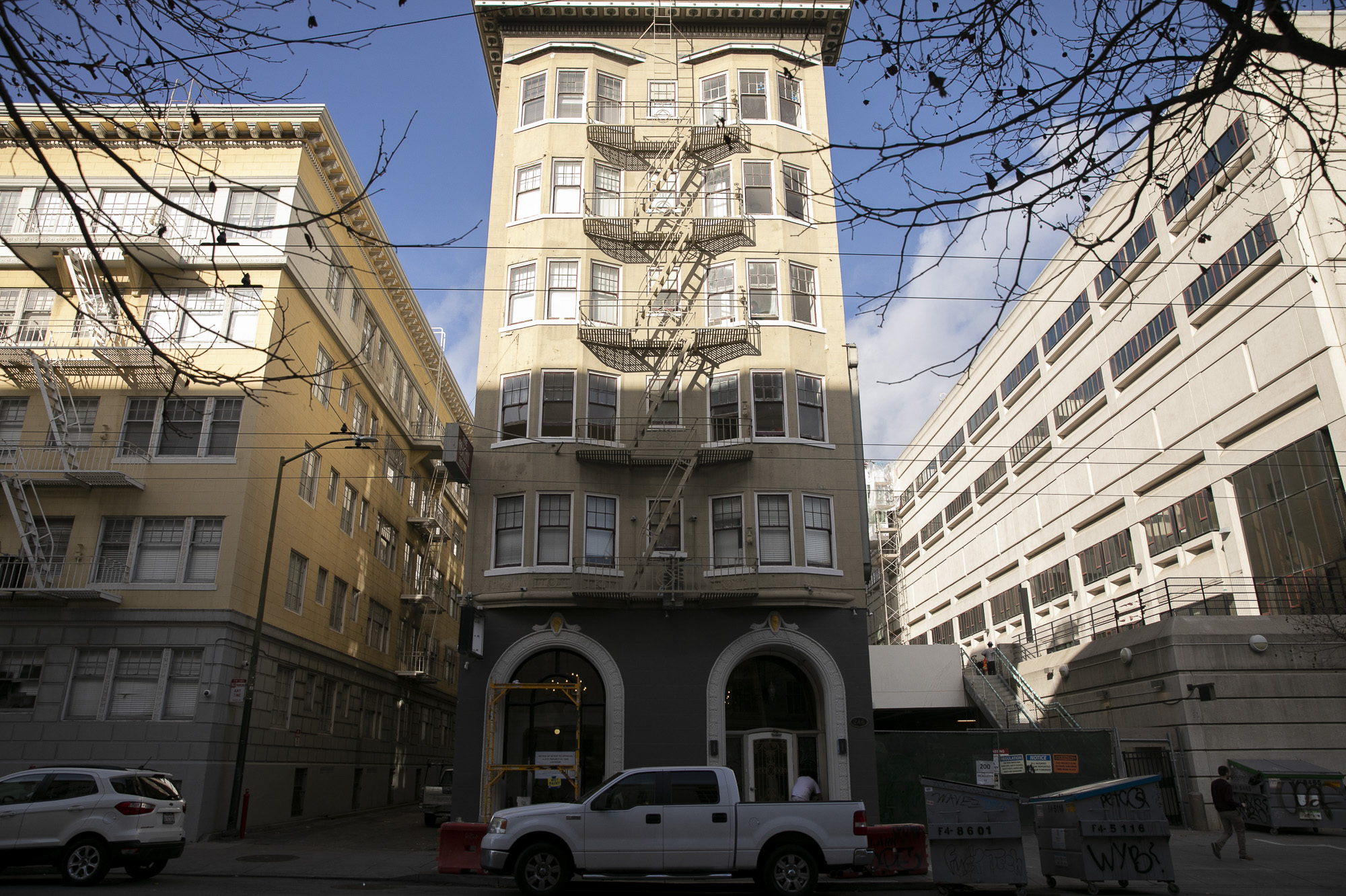 The Abigail Hotel, formerly a single resident occupancy building, in San Francico's Tenderloin neighborhood is being converted into 62 low-income units for formerly-homeless individuals