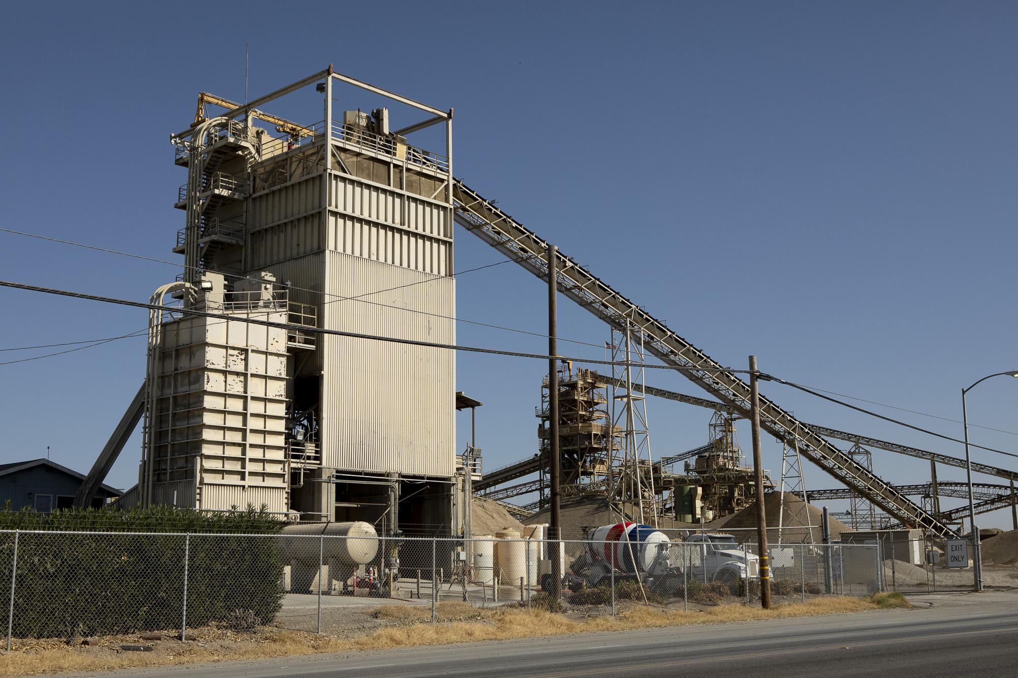 A concrete batch plant near Sacramento, California