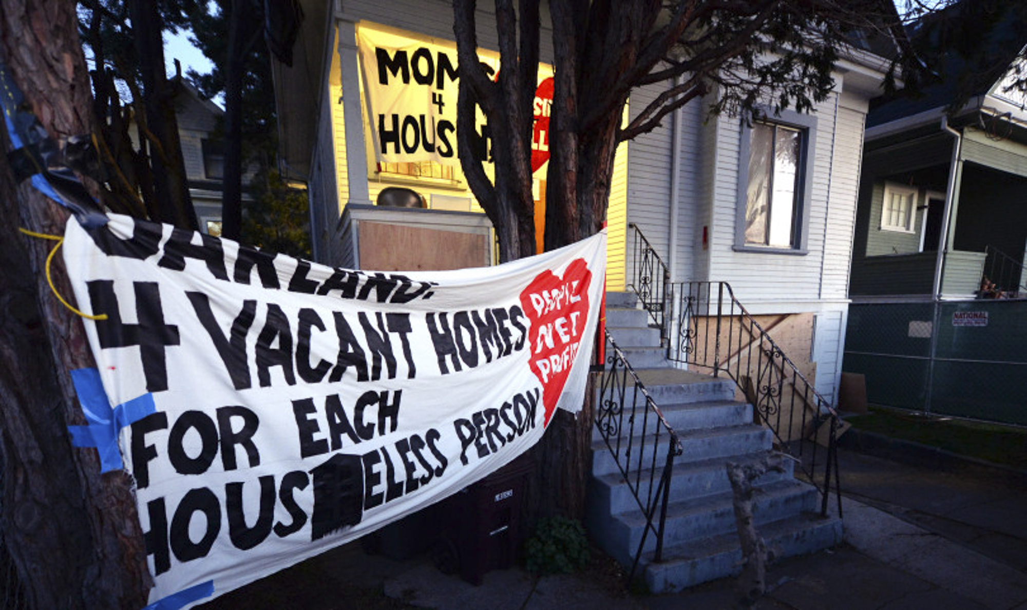 """The home that was illegally occupied by a group calling themselves """"Moms 4 Housing"""" is photographed after they were evicted in Oakland, Calif., on Tuesday, Jan. 14, 2020. Photo by Doug Duran, Bay Area News Group"""