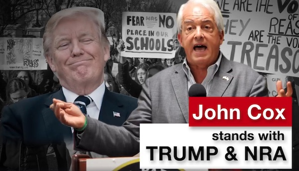 """An """"attack"""" ad that Gov. Newsom ran against Republican candidate John Cox during the 2018 primary, vilifying him for liberals but highlighting his conservative bonafides for Republican voters."""