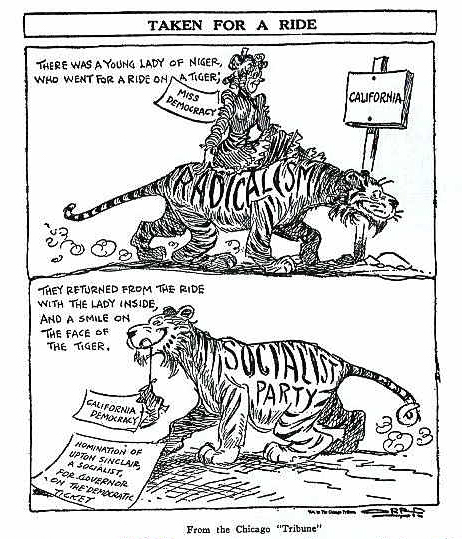 A Chicago Tribune political cartoon from the 1930s