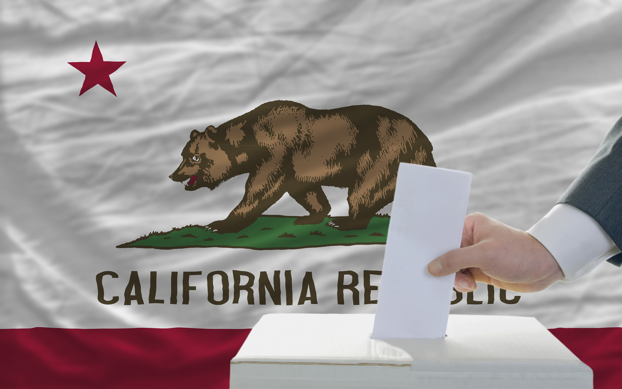California election results photo illustration