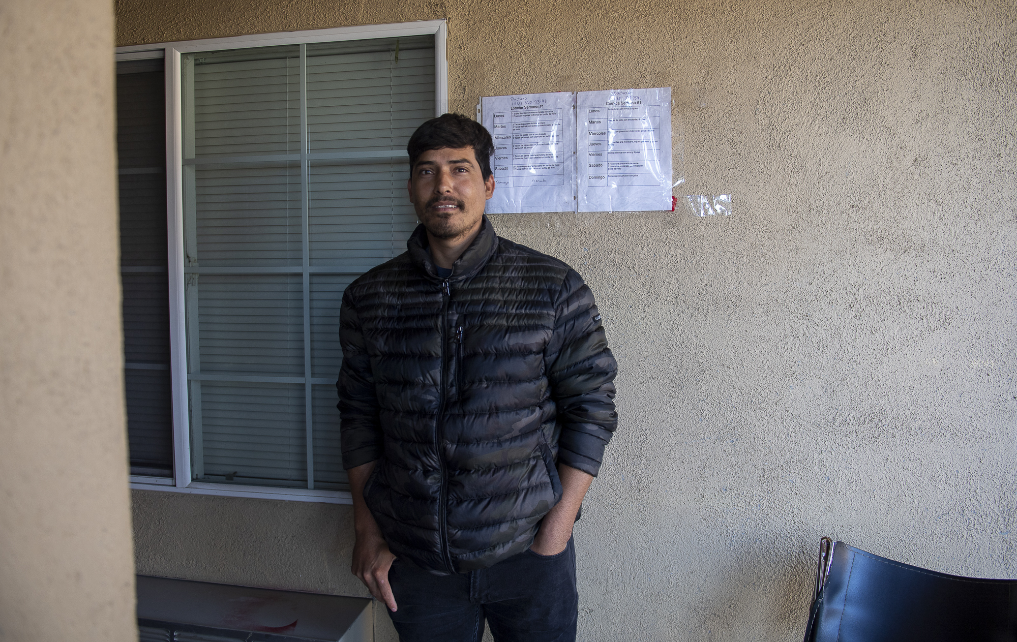 An H2A worker is photographed just right outside of their room located in the Budget Inn Motel in Salinas on April 2, 2020. Photo by David Rodriguez, The Salinas Californian