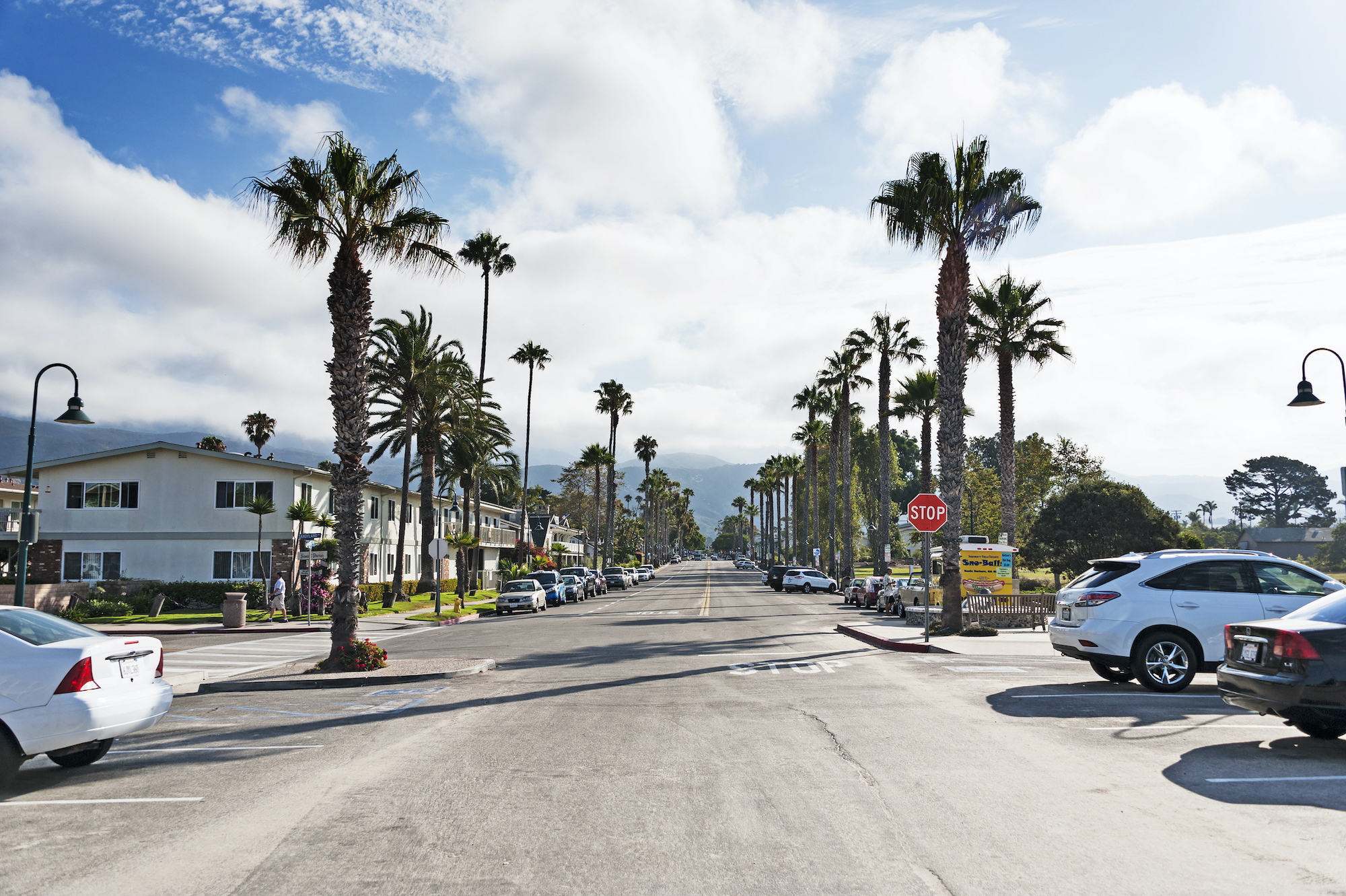 California's cities such as Carpinteria are only beginning to absorb the devastating blows of this pandemic — and strategizing about how to survive the COVID recession. Above Carpinteria. Image via iStock.