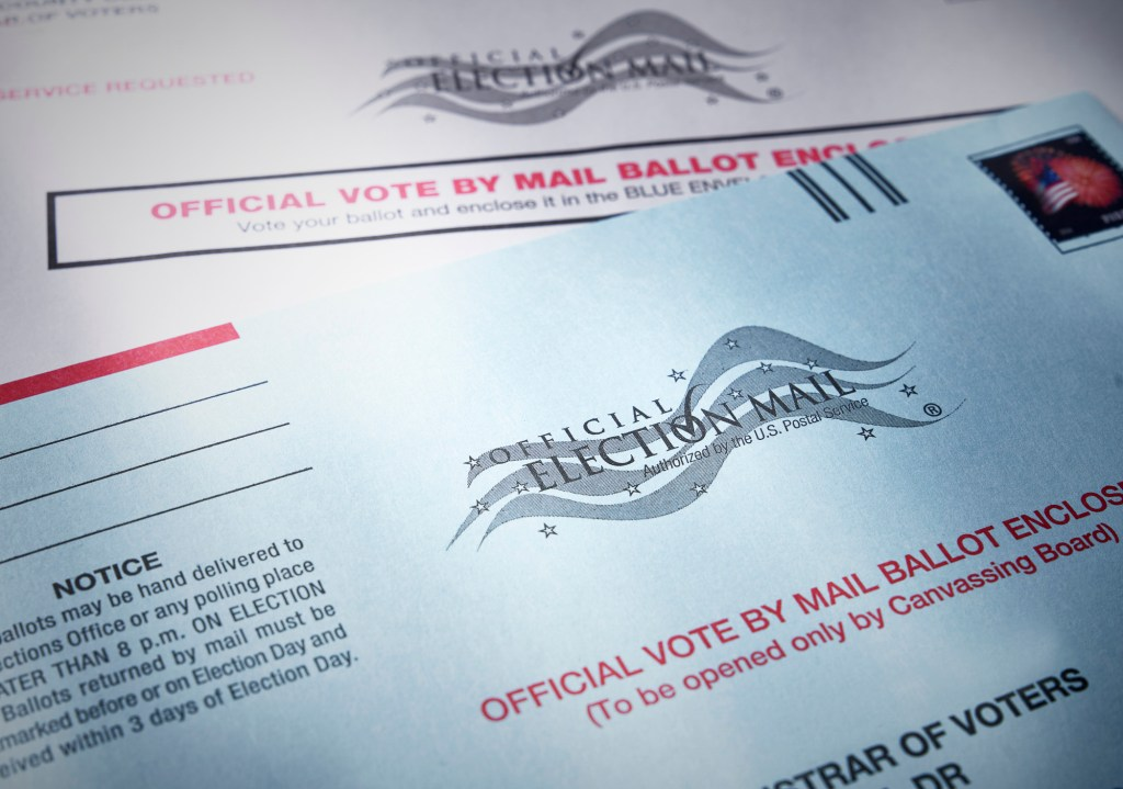California is moving to an (almost) all-mail election for 2020. Image via iStock