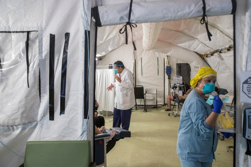 El Centro Regional Medical Center staff attend to patients who are suspected COVID-19 positive on May 30, 2020. Photo by Omar Ornelas, The Desert Sun